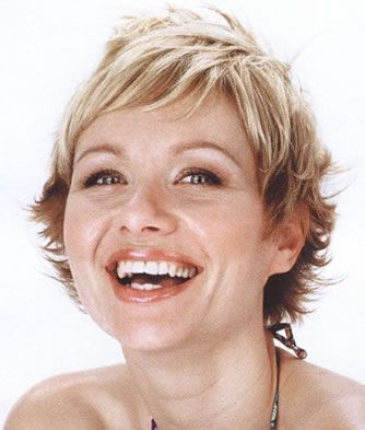 Laughing-Girl-Short-Hairstyle